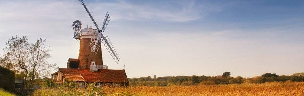 A view over Cley Marshes - Test your equipment here when you visit our NWT shop